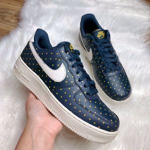 Nike Air Force 1 07 Low Thunder Blue Polka Dots